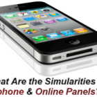 Similarity between Iphones and Survey Panels