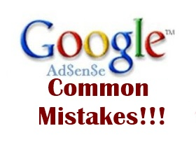 Adsense common mistakes