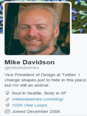 Mike Davidson twitter profile